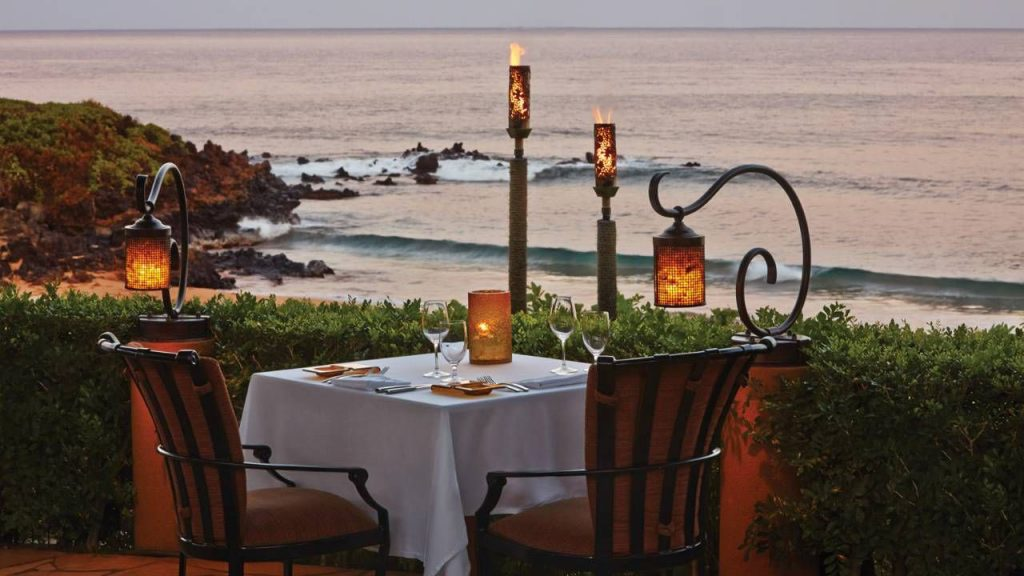 Ferraro's is the only open­air beachside restaurant in Wailea