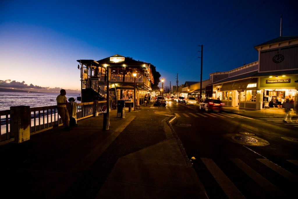 Lively Lahaina town.   Image courtesy of hawaiimagazine.com