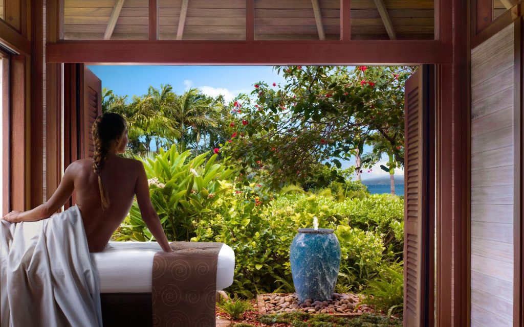 Spa Montage at Kapalua Resort is located on five acres of tropical beauty with three separate spa environments.   Image Source