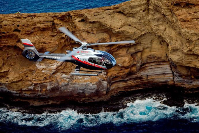 Maverick helicopters feature quiet technology, 23% larger cabin, surround sound, and theater­ style seating.  Image Source