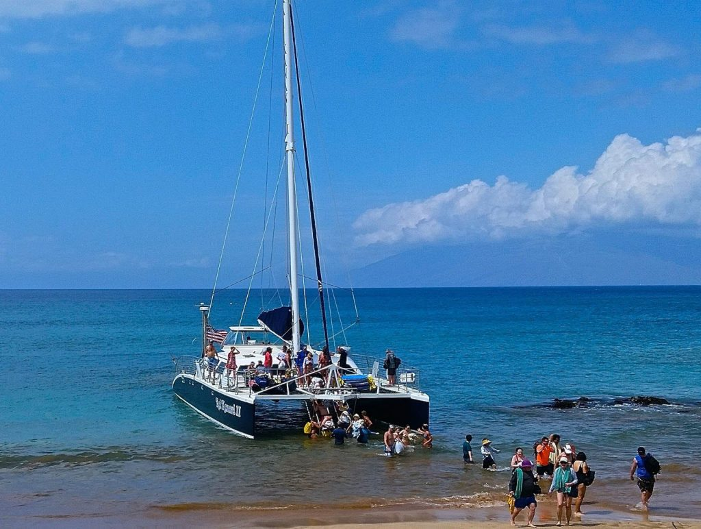 The Kai Kanani whale watching tour offers amazing views of South Maui and Molokini  Image Source