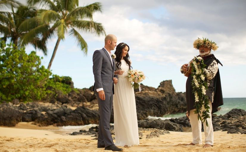 Makena Cove, also known as Secret Beach, is the perfect location for an intimate wedding with a small capacity of about ten people.  Image Source