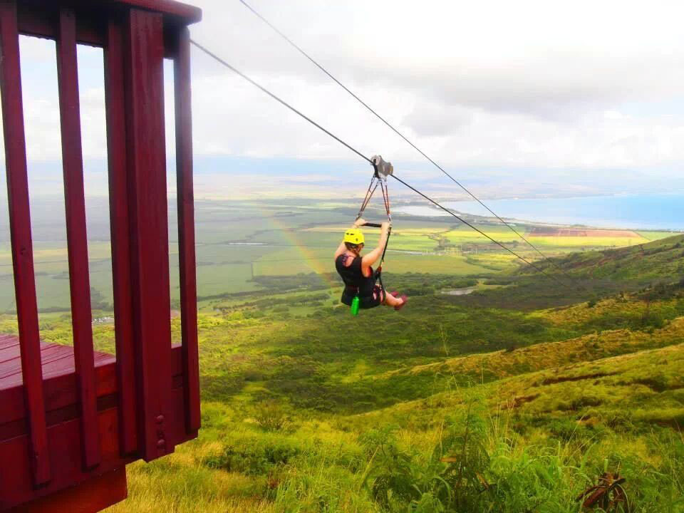 Flyin Hawaiian Zipline company offers Hawaii's most extreme zipline with eight ziplines ranging from 250 feet to 3,600 feet.  Image Source