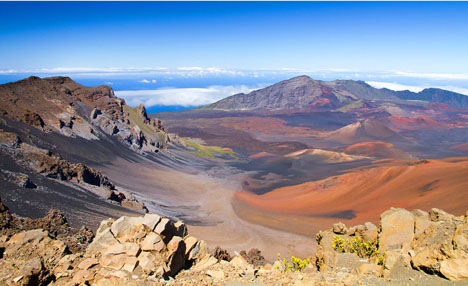 Haleakala is approximately 30,000 feet tall and taller than Mount Everest by about 675 feet.
