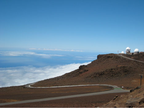 The Haleakala High Altitude Observatory Site is located above one-third of the Earth's atmosphere