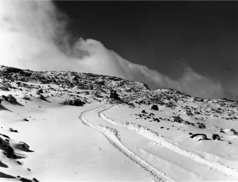 Hawaiian snowfall also graces Haleakala's summit in the winter months.