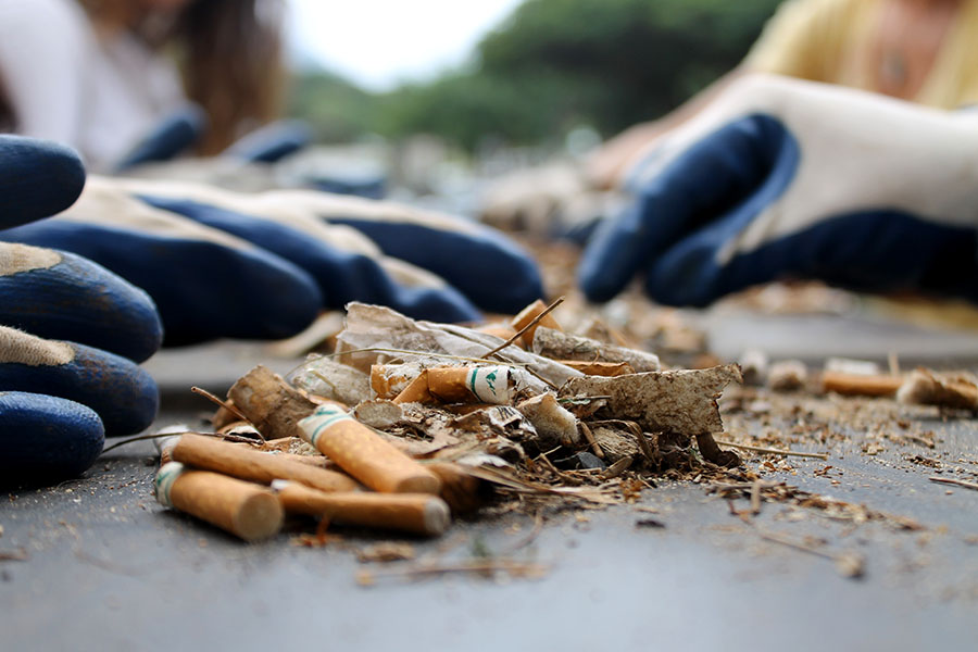 Smoking on Maui's beaches or any Hawaii beach is illegal.